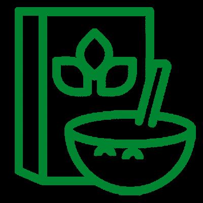 nutrición y dietética icono